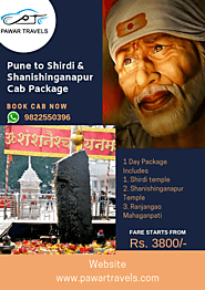 Pune Airport to Shirdi Cab Package For One & Two Days