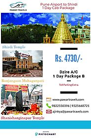 Pune Airport to Shirdi Cab Package for 1 & 2 Day | Pawar Travels