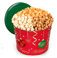 Gourmet Gift Baskets Ornament Popcorn Tin