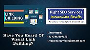 Visual Link Building Strategy from Right SEO Services