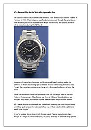 Why Panerai May be the Watch Designers for You by Blowers Jewellers