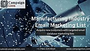 Manufacturing Industry Email Marketing List