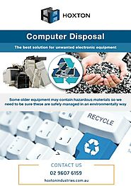 The Best Solution for Unwanted Electronic Equipment - Computer Disposal