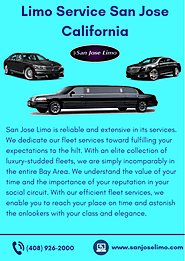 Reliable Limo Service in San Jose