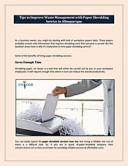 Paper shredding services for better Environment