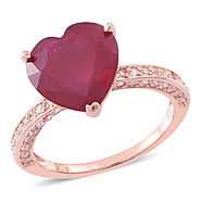 Make a Grand Entry in Any Event with Heart Shaped ring