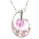 Amazon.com: Fashion Necklaces for Teen Girls Dance Gold Plated White Gold Plated Pink Austria Crystal AAA Zircon Pend...