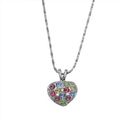 Amazon.com: Rhinestone Crystal White Gold Color Little Heart Pendant Necklaces: Jewelry