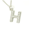 Amazon.com: The Olivia Collection Medium Cz Initial H Pendant on 18-21 Inch Chain: The Olivia Collection: Jewelry