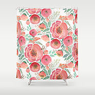 Floral pattern 5 Shower Curtain