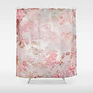 Vintage Floral Rose Roses painterly pattern in pink