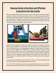 Bouncy Castle Is Better Investment for the Children