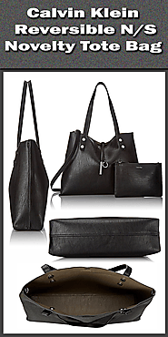 Calvin Klein Reversible N-S Novelty Tote Bag.