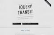 jQuery Transit // Super-smooth CSS3 transformations and transitions