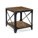 Distressed Natural Pine Wood Rectangular End Table