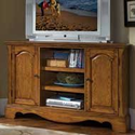 Country Casual Corner Entertainment Credenza with Distressed Oak Finish