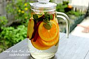 Apple and orange infused water