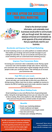 How Email Append Can Accelerate Your Email Marketing?
