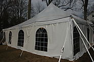 Cathedral tent with side walls