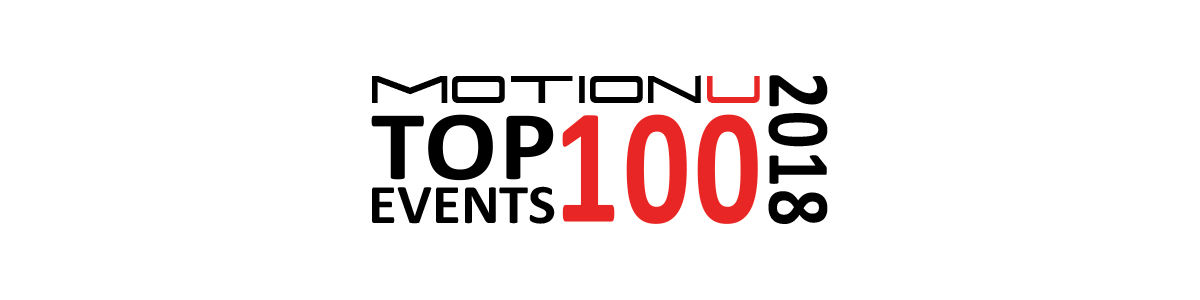 Headline for MotionU's Top 100 Car, Motorcycle & Wheeled Events U.S. 2018