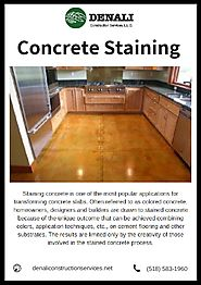 Concrete Staining Services - Denali Construction