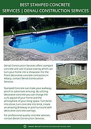 Best stamped concrete services denali construction services