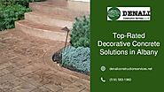 Top-Rated Decorative Concrete Solutions in Albany NY
