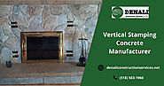 Vertical Stamping Concrete Manufacturer – Denali Construction