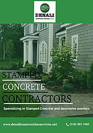 Stamped Concrete Contractors – Denali Construction