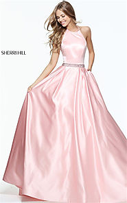 2017 Blush Sherri Hill 51036 Rhinestones A-line Halter Bridesmaid Dress [Blush Sherri Hill 51036] - $178.00 : Cheap P...
