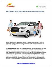 Hire a Shreeji Taxi- An Easy Way to Get to Your Destination in Udaipur by ShreeJi - issuu