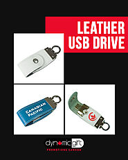 Leather USB Drive From Dynamic Gifts
