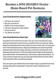 Flexible and Home Based Pet Business Opportunity