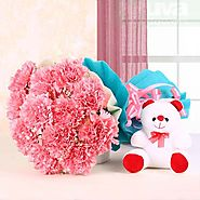 Buy/Send Teddy Blossoms - YuvaFlowers