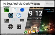 10 Best Android Clock Widgets - August 2013