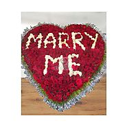 Send Marry Me - 500 Roses Arrangement Online Same Day Delivery - OyeGifts.com
