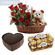 Send Sweet Love Combo Online Same Day Delivery - OyeGifts.com
