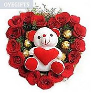 Buy/Send Love Combo - Bouquet Online Same Day Delivery - OyeGifts.com