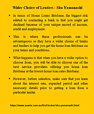Why do you need to hire a broker for a Home Loan?