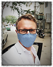 Beatclouds N95 Pm 2.5 Anti Pollution Face Mask Rolling Blue