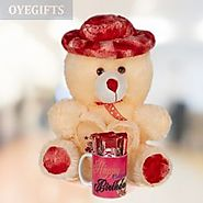 Buy The Red Teddy Combo Online - OyeGifts.com