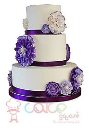 Best Wedding Cakes Online - Purple Perfect