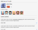 Google+ Widget :: Google Plus customizable Widget to get in touch with your visitors