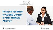 Reasons to Contact a Personal Injury Attorney