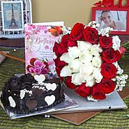 Buy/Send Birthday Cake Delighted Hamper - YuvaFlowers