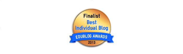 Headline for Best Individual Blog 2013 - Edublog Awards