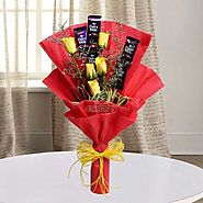 Buy / Send Cadbury With Rose Gifts online Same Day & Midnight Delivery across India @ Best Price | OyeGifts
