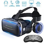Pansonite Vr Headset with Remote Controller, 3d Glasses Virtual Reality Headset for VR Games & 3D Movies, Eye Care Sy...