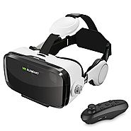 VR Headset, ELEGIANT 3D VR Glasses, Virtual Reality Headset Built-in Headphone with Remote Control, Compatible with i...