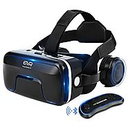 ETVR 3D VR Headset With Remote Controller, Large Viewing Immersive Experience Virtual Reality Glasses with Builted-in...